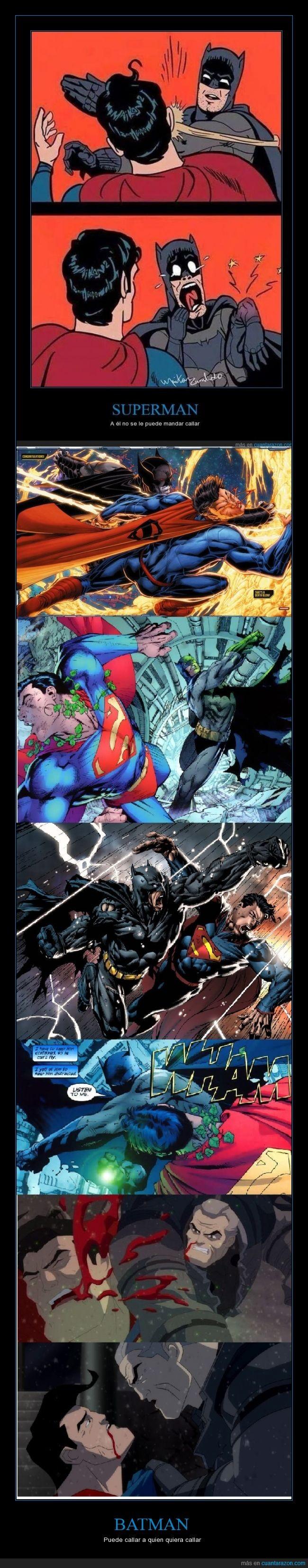 batman,callar,golpe,kriptonita,pegar,puñetazo,silencio,superman