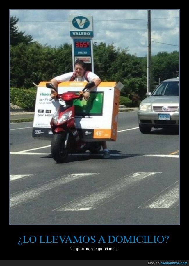 cargar,grande,llevar,moto,pagar,plana,plasma,tele,tv