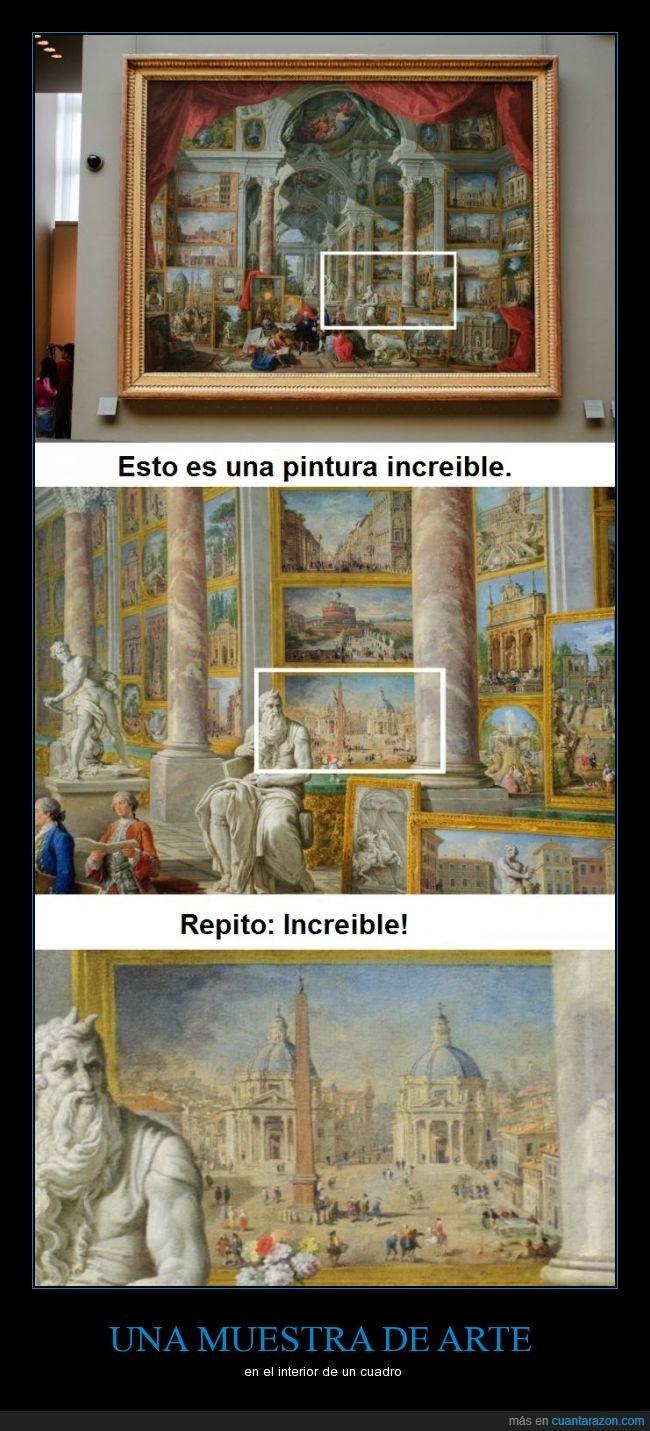 arte,cuadro,cuadros dentro de cuadros,increible,talento