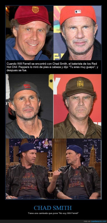 Chad Smith,iguales,llegaron aun duelo de baterias en el video se ve,parecidos razonables,Red Hot Chili Peppers,separados al nacer,Will Ferrell