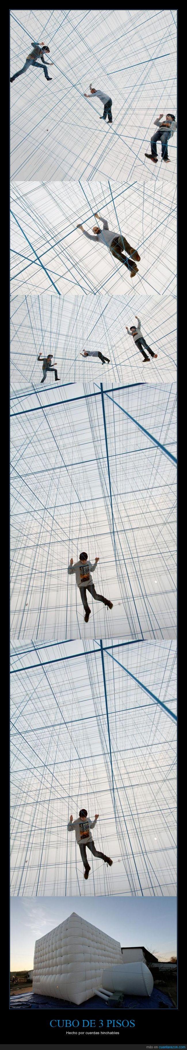 cubo,cuerda,dentro,edificio,jugar