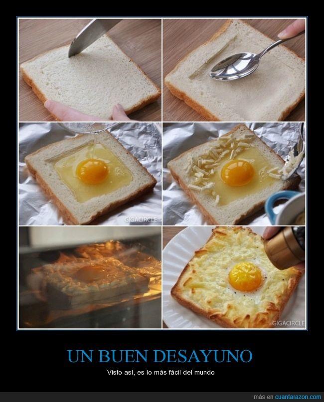 huevos,incendiaré la cocina,pan,queso,se ve facil