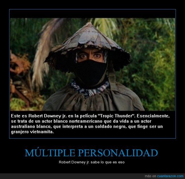 actor,interpretar,película,personajes,Robert Downey jr,Tropic Thunder