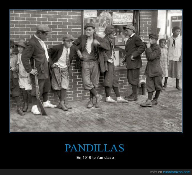 1916,fumar,malotes,niños,pandillas,pandilleros,springfield,tampoco mucha clase que digamos