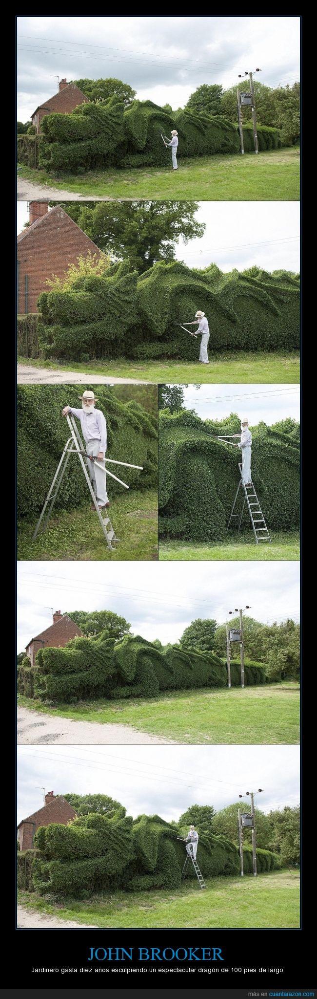 dragón,escultura,Frizzleton Granja,jardinero,JOHN BROOKER,Lynn del Rey,Norfolk