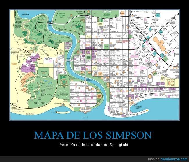 Amarillos,ciudad,mapa,plano,Simpson,Springfield