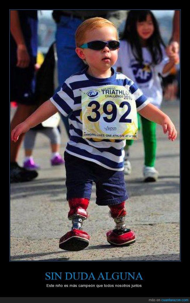 campeón,ejemplo,minusválido,niño,piernas