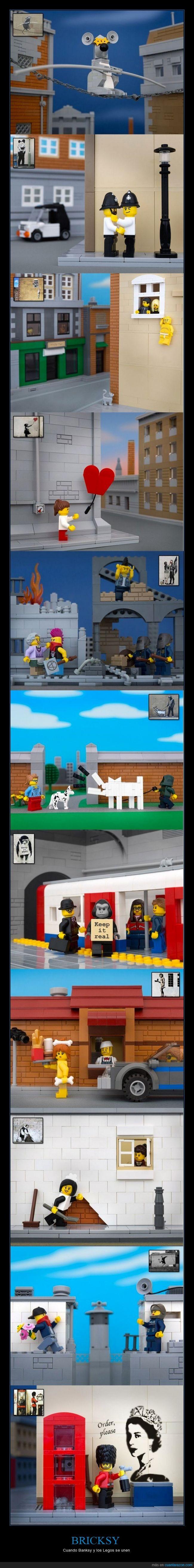banksy,bricksy,cuadro,figura,graffiti,lego,reproducción