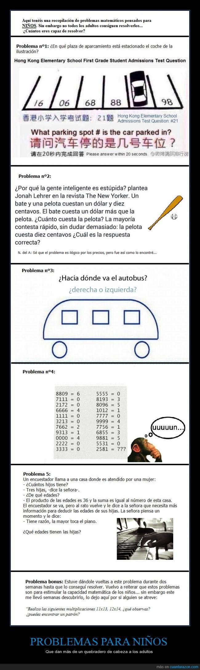 complicados,Estalmat,Matemáticas,Niños,Problemas,Si me plublican esto me hago el camino de Santiago