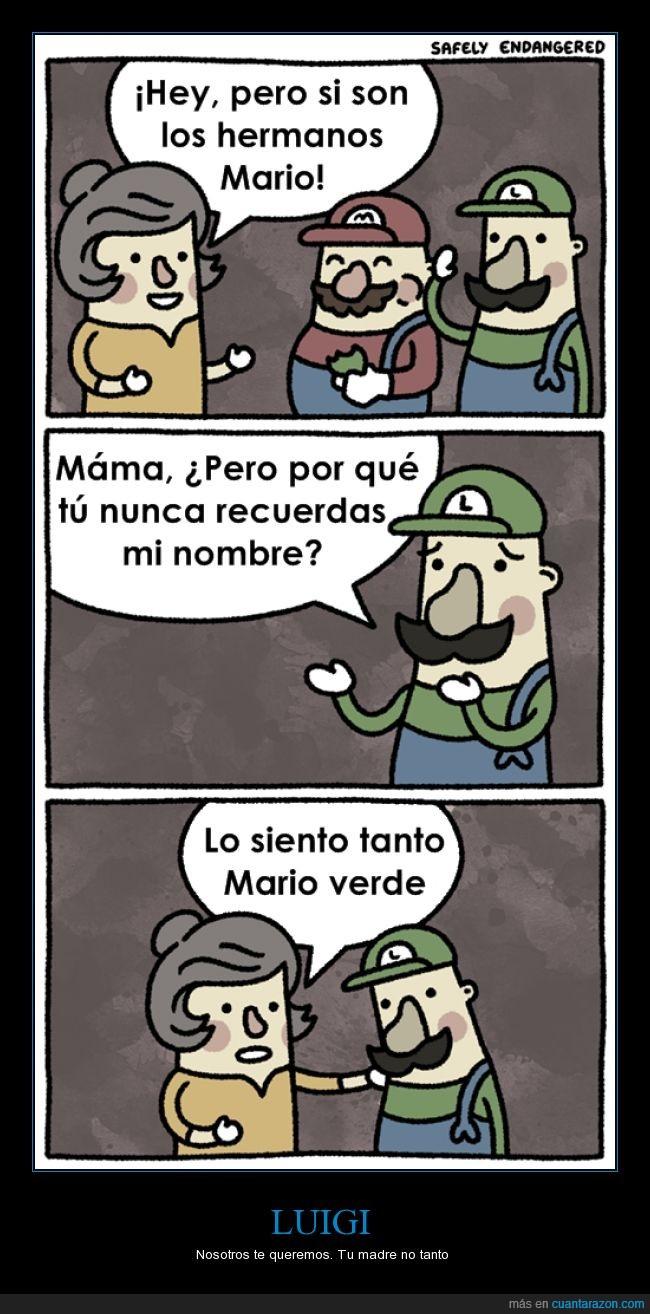 complejo de inferioridad,consola,deprimente,desplazado,Luigi,Mario,Nintendo,pixeles,retro,troll,verde