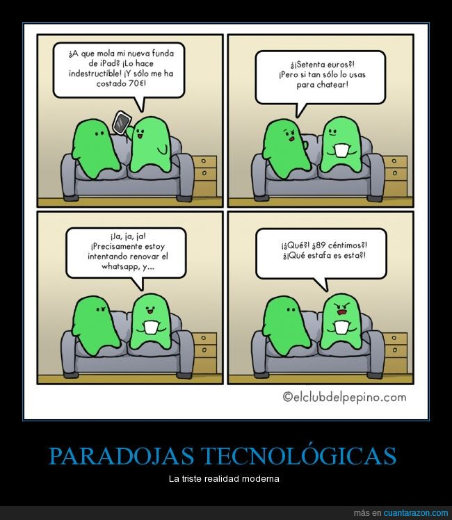 absurdo,humor,modernos,moviles,paradoja,tecnologia,whatsapp