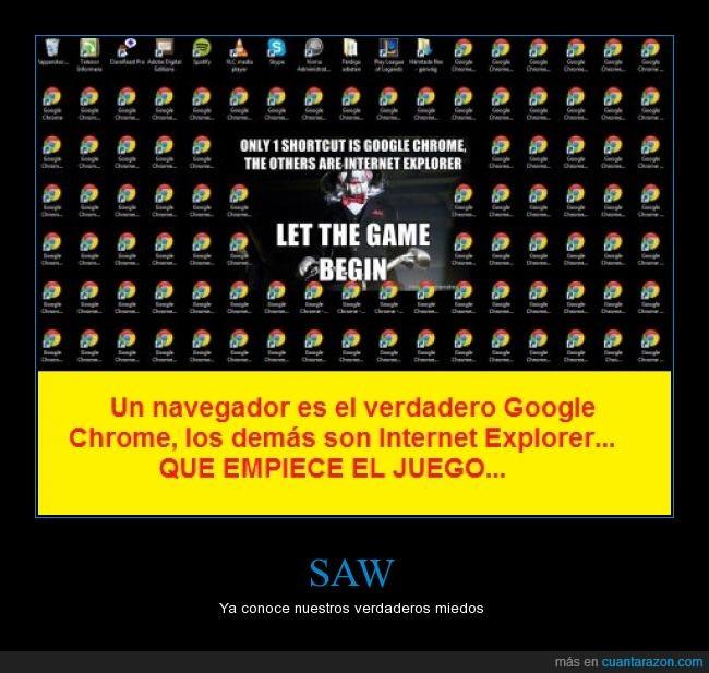 google chrome,internet,internet explorer,juego,saw