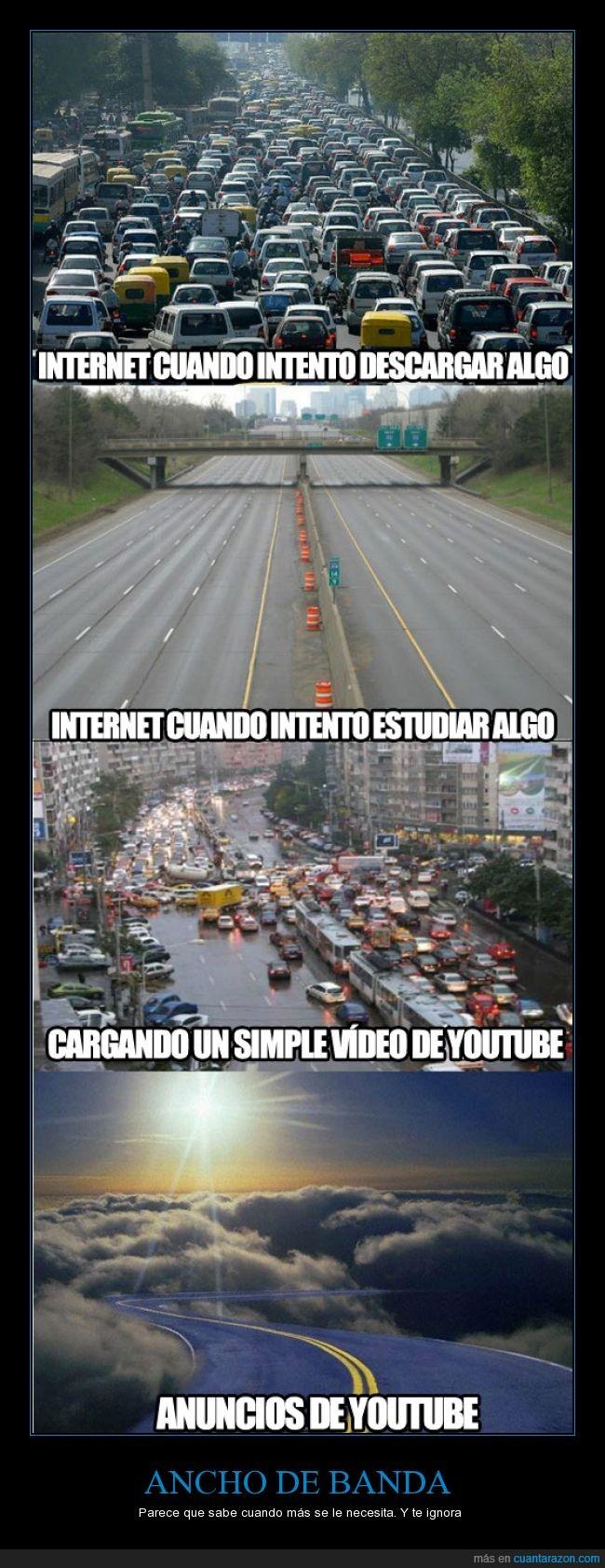 anuncio,conexion,descarga,estudiar,lento,normal,rapido,velocidad,youtube