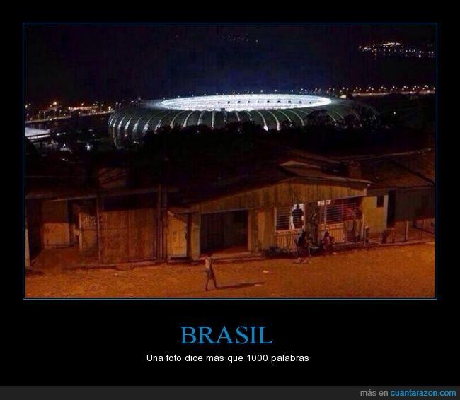 brasil,estadio,favela,Maracaná,pobreza
