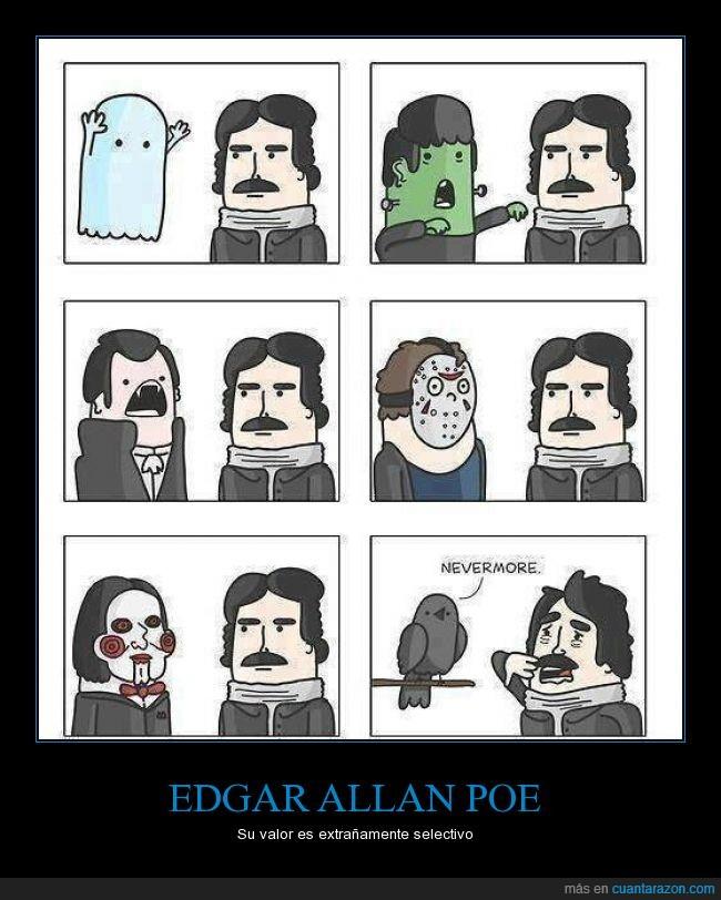 cuervo,cuervos,edgar allan poe,fantasma,jason,jig saw,libro El Cuervo,miedo,temor,vampiro,zombie