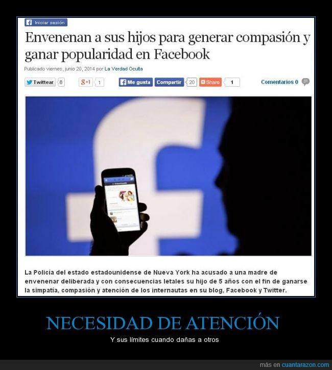 atención,enfermedad,facebook,hijos,intoxicación,madre,twitter