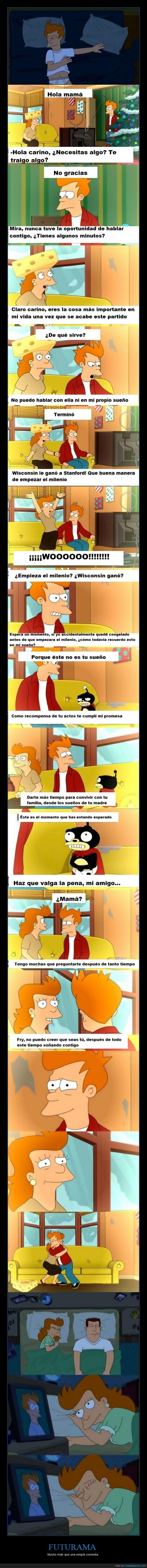 amor,Fry,Futurama,madre,mamá,Matt Groening,mileno,serie,sueño