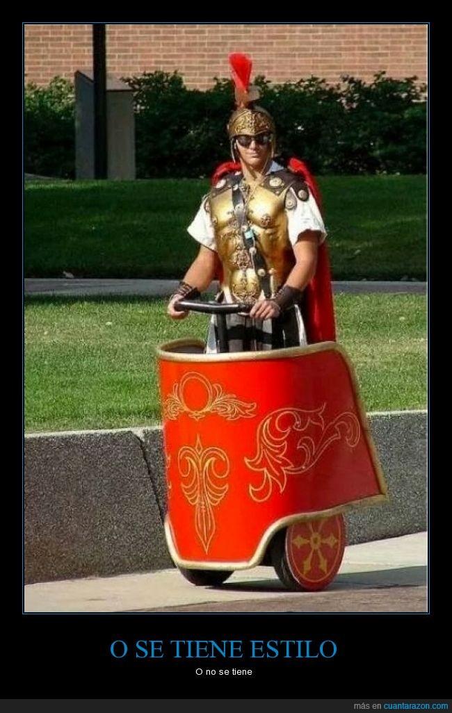 ave cesar,carro romano,la concha de tu madre,segway