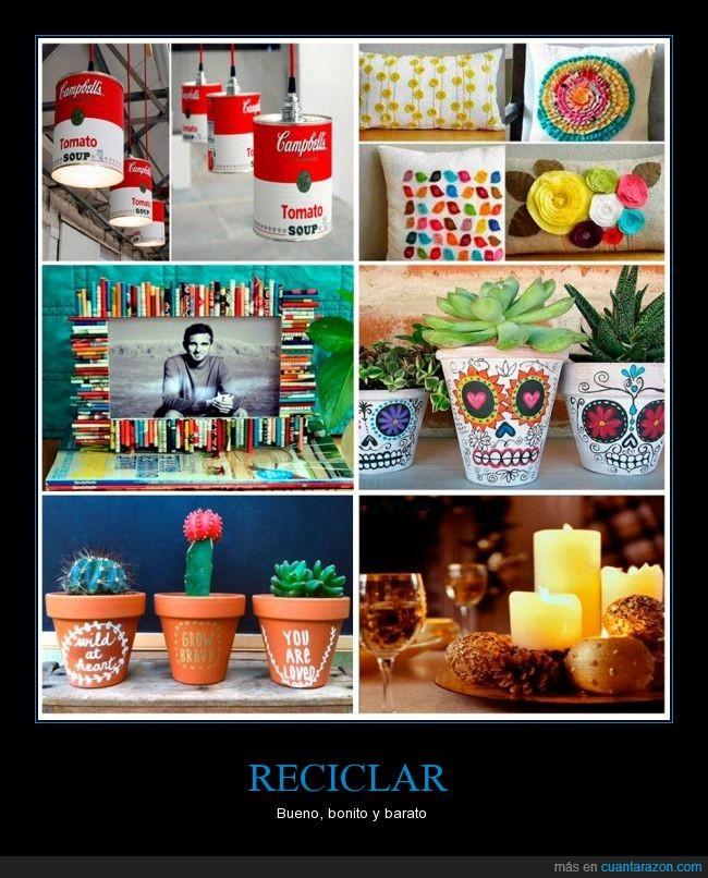 campbell,casa,decoracion,decorar,foto,lata,maceta,marco,piña,pintar,tomato soup,vela