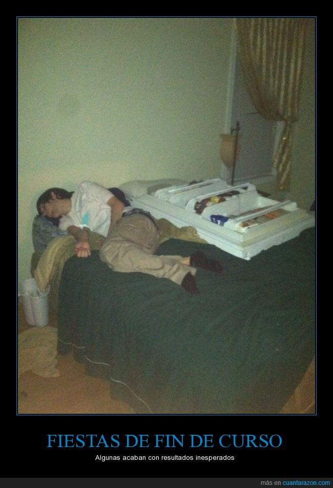 borrachera,borracho,cama,dormir,ebrio,fiesta,puerta de nevera,refrigerador