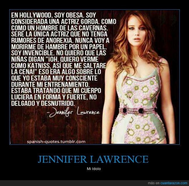 actriz,anorexia,cuerpo,Jennifer Lawrence,katniss,peso