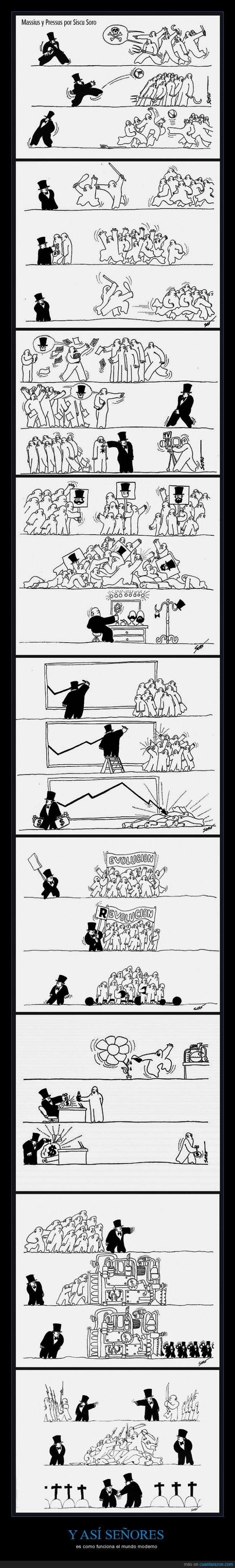 adinerado,capitalismo,comic,dinero,empresario,enfrentado,engañar,funcionamiento,lucha,mundo,politica,pueblo