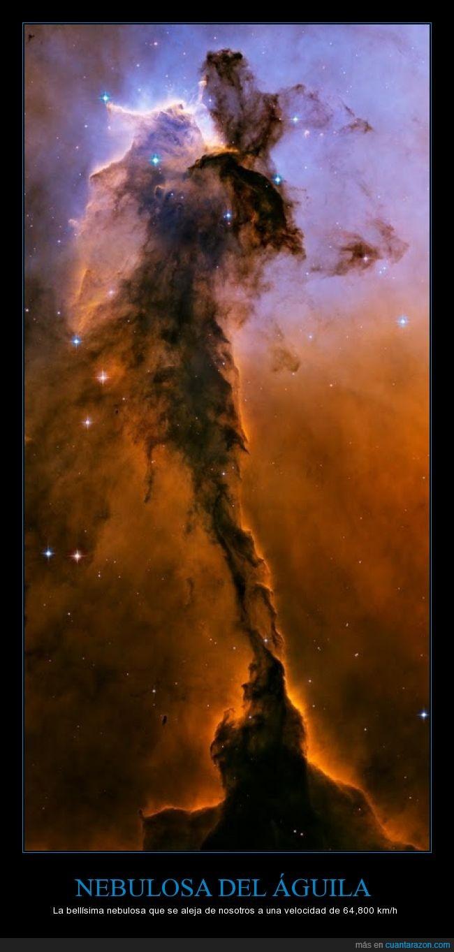 aguila,alejar,espacio,mundo,nebulosa,nosotros,universo