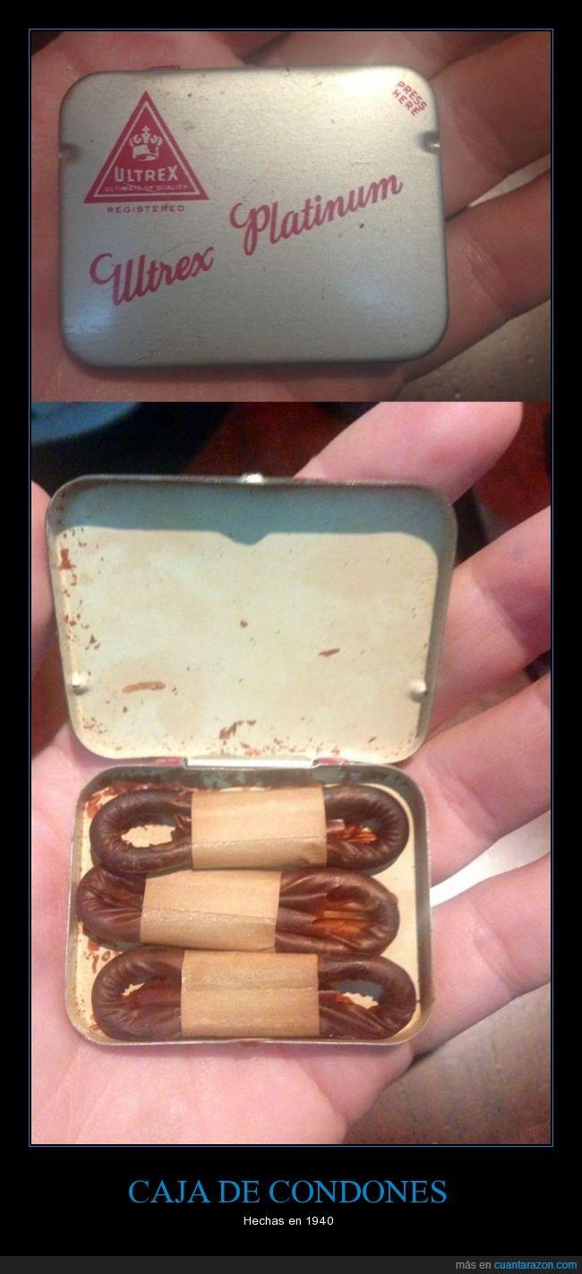 1940,antiguedad,box,caja,condoms,condones,pero que?,preservativos,seguro