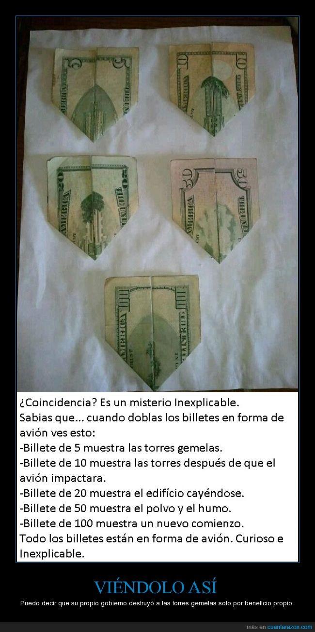 avión,billetes,conspiración,estos hdp ya lo tenían planeado,gobierno,parece que los rumores eran ciertos,torres gemelas