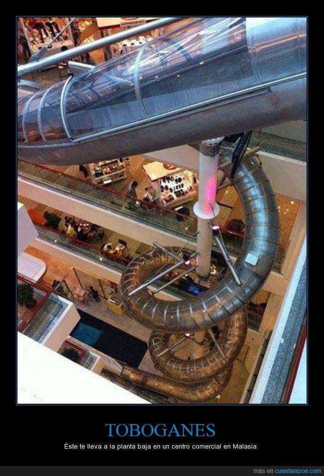 arriba,baja,bajar,centro comercial,esperar,llegar,malasia,planta,tobogan