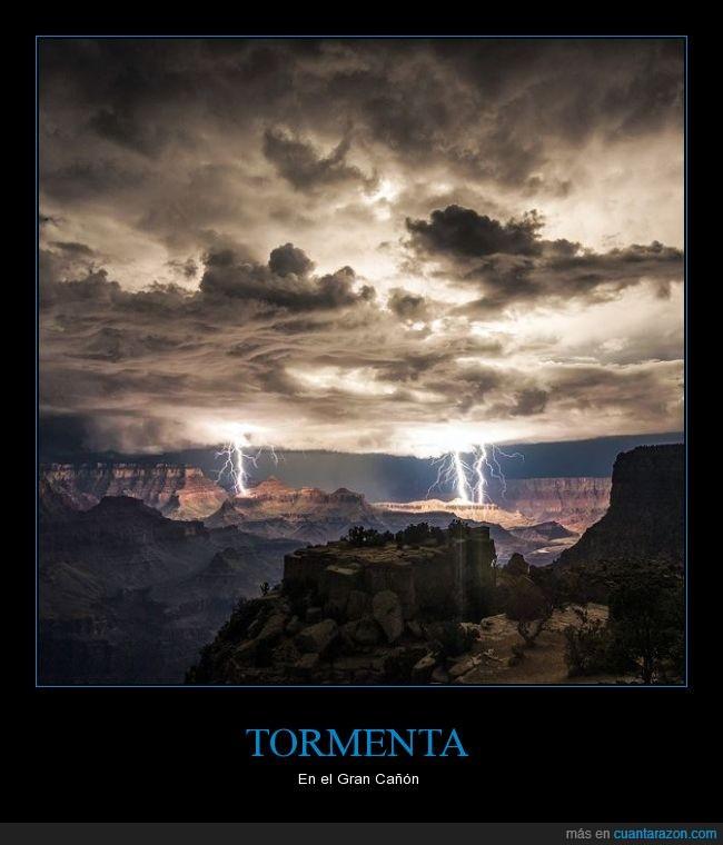Colorado,Gran Cañón,nubes,Rayos,Tormenta,USA