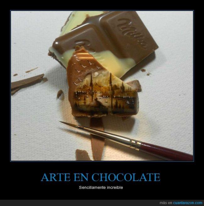 arte,blanco,chocolate,como lo hace?,impresionante,increible,leche,milka,pintar