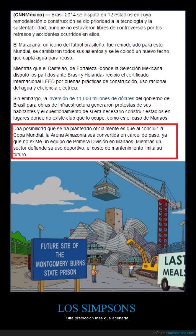 Brasil,Estadio,FIFA,Frank Gehry,futuro,Los Simpsons,Mundial,predicción
