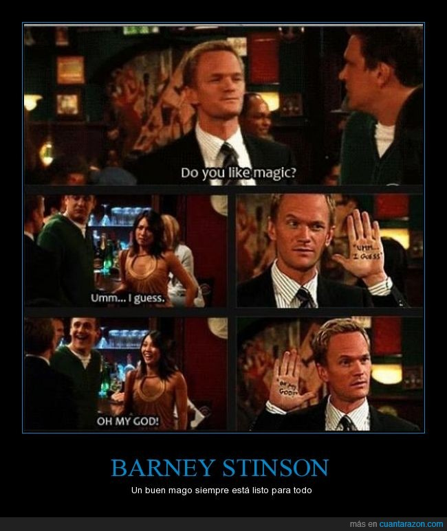 Barney Stinson,ccavm,creer,HIMYM,Magia,omg