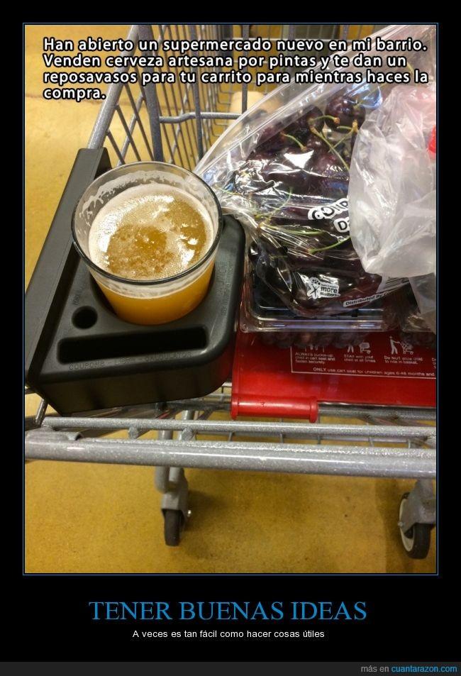 buena,cerveza,cerveza artesana,compra,comprar,estados unidos,facil,idea,reposavaso,supermercado
