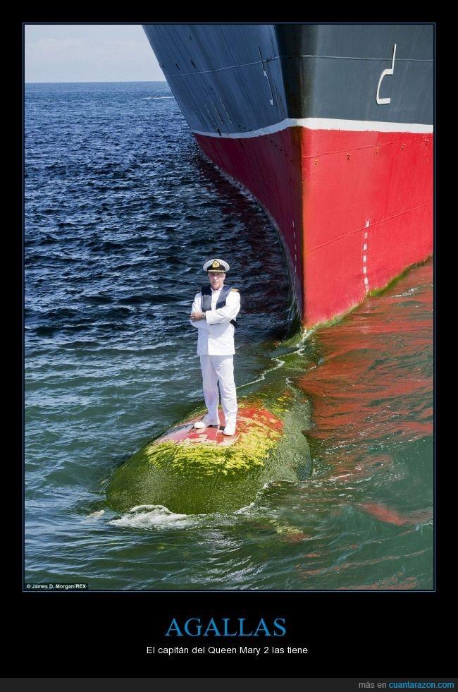 agallas,barcos,capitán,queen mary,valiente