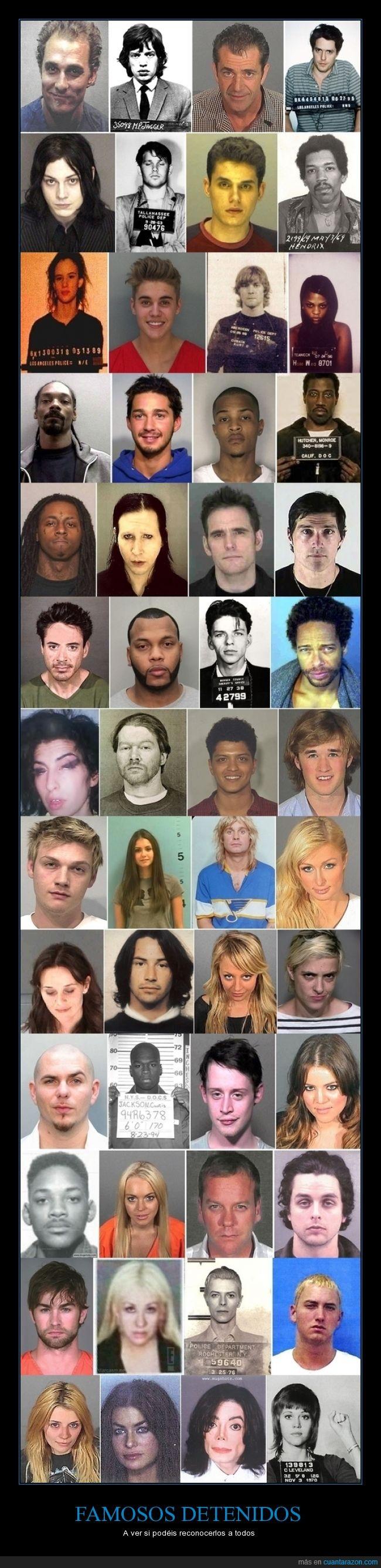 carcel,detener,detenidos,famosos,ficha policial,foto,mugshot,policia