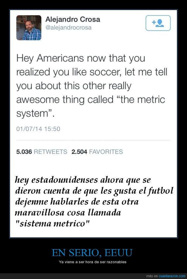 EEUU,evolucion,futbol,sistema metrico,USA