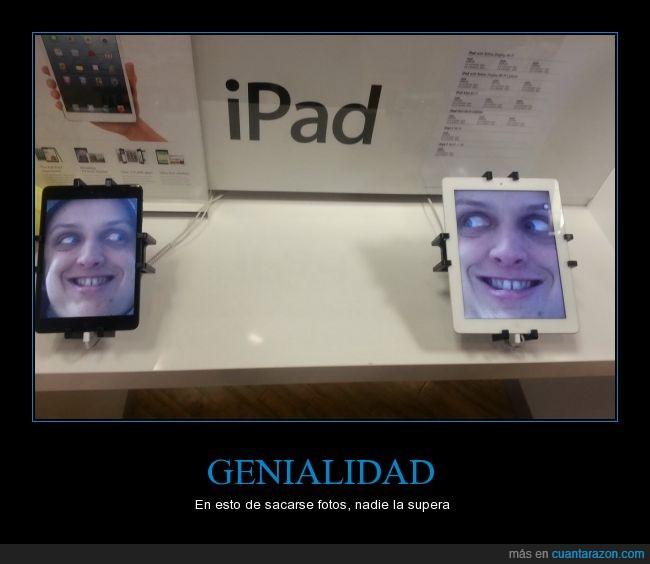 apple,apple store,chica,fea,fondo,foto,ipad,mirada,mirar,mujer,troll