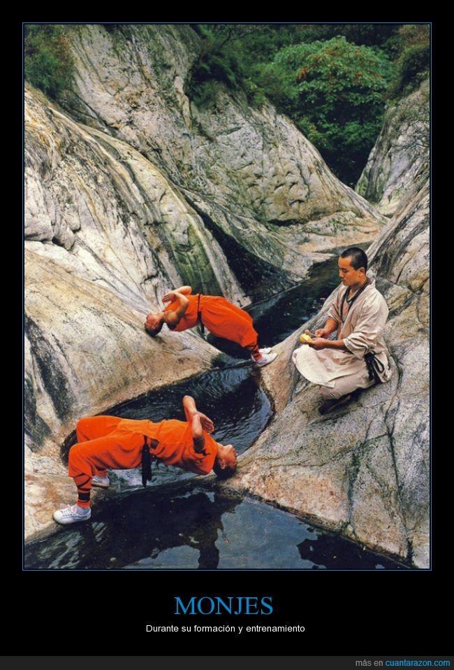 cabeza,cabeza dura,dura,entrenamiento,entrenar,formación,monjes