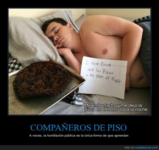 avergonzar,dormir,facebook,horno,nota,olvidar,pabernosmatao,pizza,quemada,quemar
