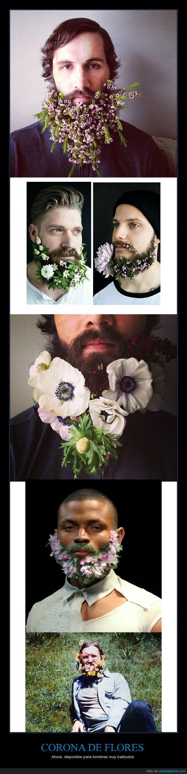 barba,corona,dentro,flor,flores,lana del rey,pegar,pelo