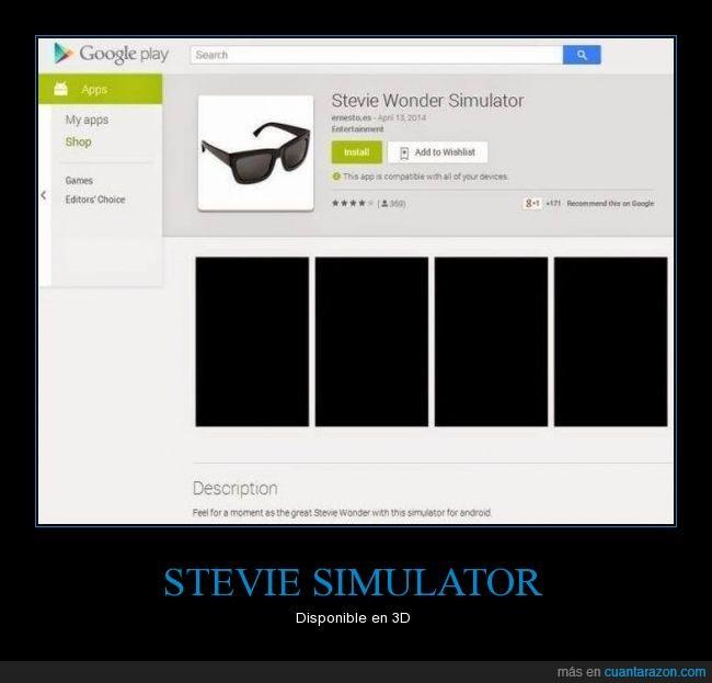 3D,ciego,negro,play store,real,Stevie wonder simulador,todo