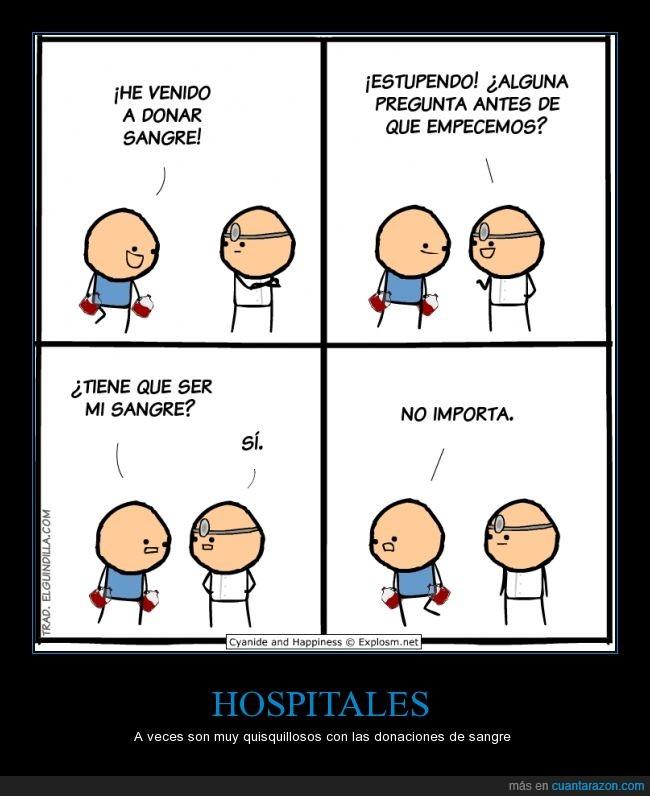 bolsa,chiste,donacion,donante,hospital,humor,menos mal que no era organos,sangre
