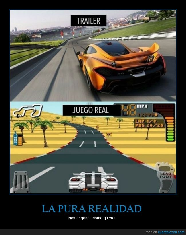 coche,cutre,diferencia,downgradeo grafico,gamer,juegos,next gent,trailer