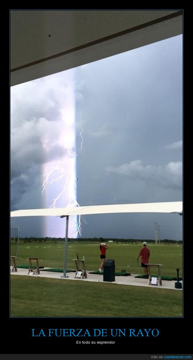campo,descarga,golf,rayo,tormenta