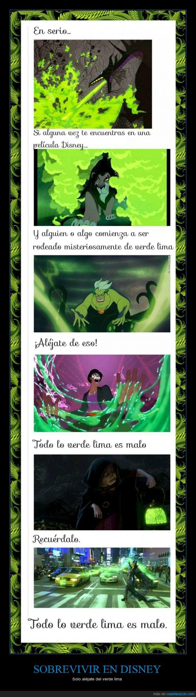 disney,malo,sobrevivir,verde,verde claro,verde lima,villanos