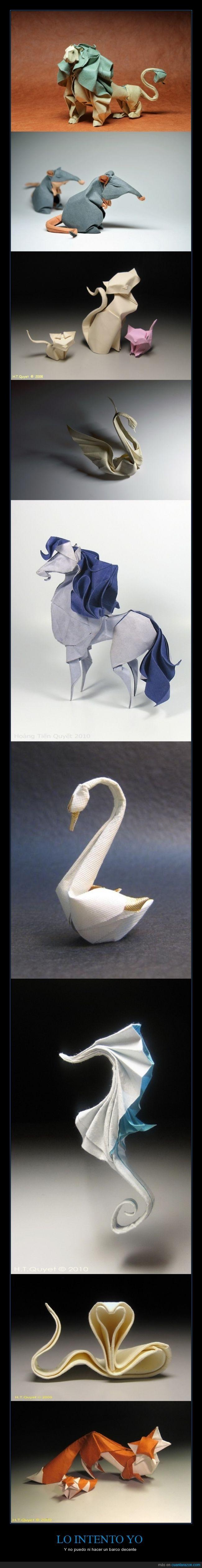 animal,Caballito de mar,León,Origami,papiroflexia,talento