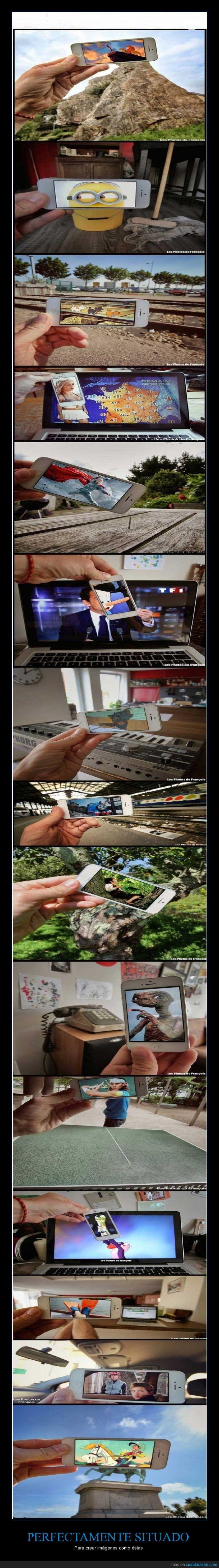 efectos,encima,lugares,móvil,pantalla,situar,smarthphone,teléfono