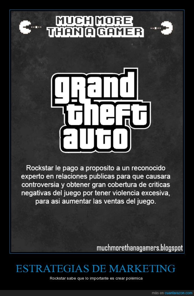 Grand theft Auto,marketing,Much more than a gamer,Rockstar,Violento